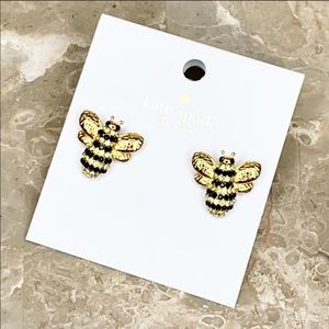 NWT Kate Spade Pave Bee Stud Earrings